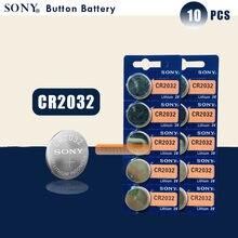 10 шт./лот SONY оригинальный cr2032 кнопочный аккумулятор 3 в монета литиевая батарея для часов пульт дистанционного управления калькулятор cr2032