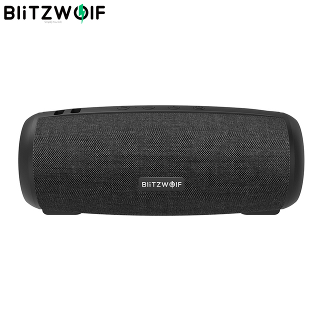 BlitzWolf BW WA1 12W مضخم اللاسلكية بلوتوث 5.0 المتكلم المزدوج السلبي الحجاب الحاجز TWS ستيريو TF بطاقة يو القرص المتكلم الصوت Mic