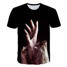 New wolf pattern 3d t shirt men's short sleeved horror street