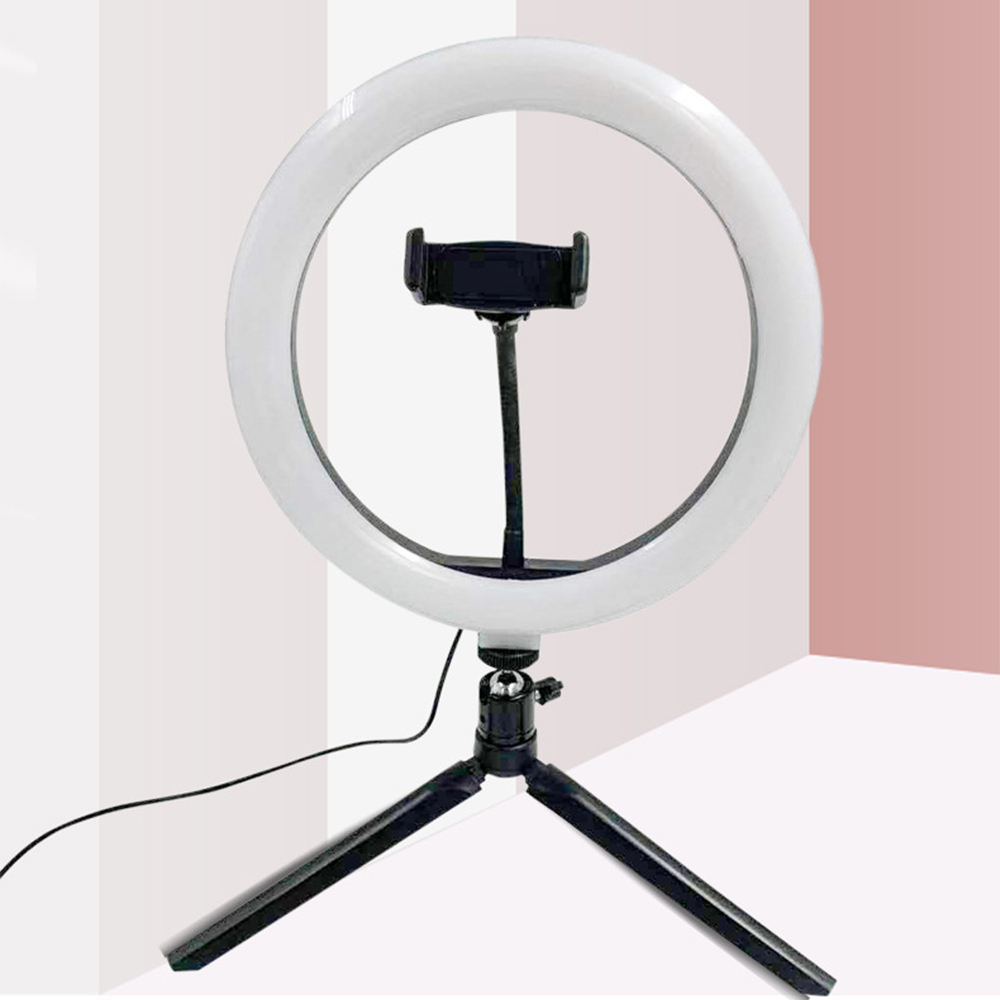 10 inch Round selfie Stick Photography ring light tripod For Youtube Tik tok Video Live Photo Studio make up ringlight Ring Lamp