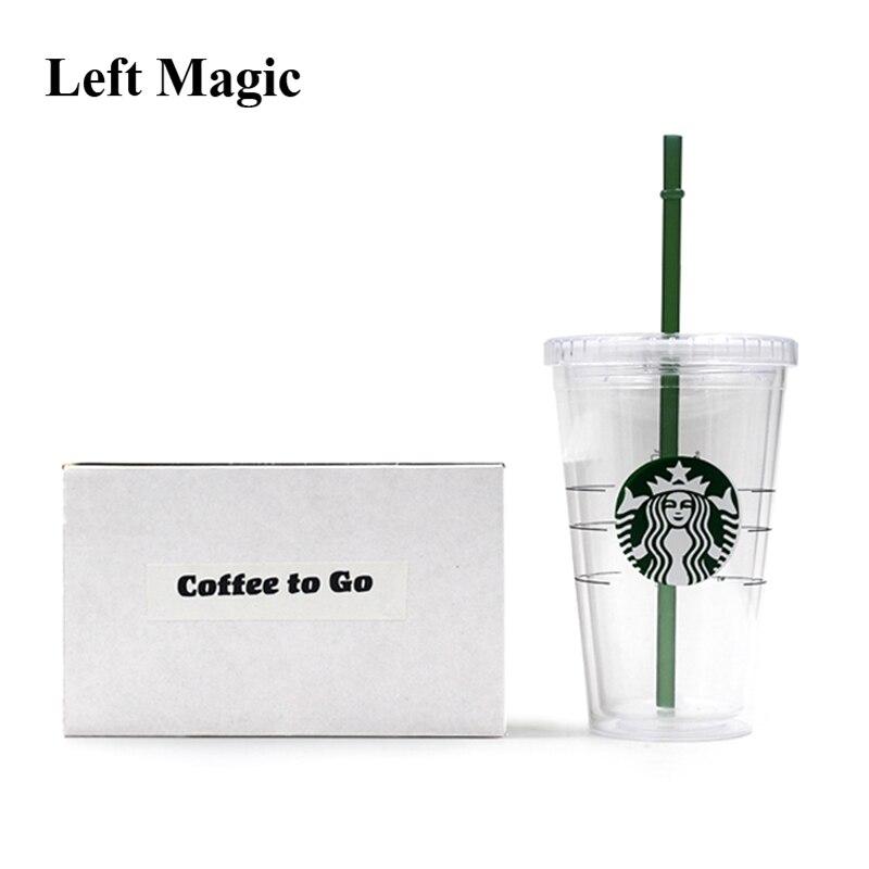 Coffee To Go Magic Tricks Liquid Disappear Magica Magician Close Up Bar Illusions Gimmick Prop Mentalism Comedy Trucos De Magia