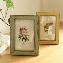 Vintage 5 pulgadas marco de fotos de madera Picure titular Stand Home dormitorio escritorio Decoración