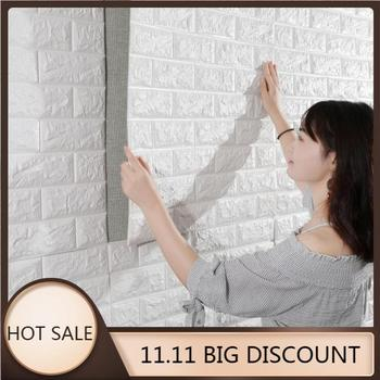 PE Foam 3D Wall Stickers Home Improvement Rental housing necessary Wall Decoration Wall Brick Wall Living Room 77x70 cm image