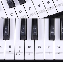 цена на Piano Sticker Transparent Piano Keyboard Sticker 37/49/54 Key Electronic Keyboard 88 Key Piano Stave Note Sticker for White Keys