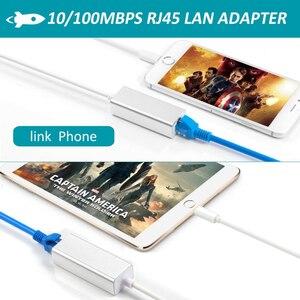Image 5 - Rj45 이더넷 lan 용 어댑터 유선 networrk 100 mbps 네트워크 케이블 iphone 7/8/7 p/8 p 용 해외 여행 컴팩트
