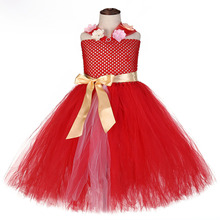 Red Kids Princess Elena of Avalo Dress Christmas Party Dresses for 8 Year Old Girls Costumes Flower Holy Communion