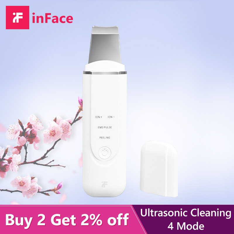 Ultrasonic Skin Scrubber Blackhead Remover Acne Point Noir Spatula Extractor Face Skin Care Tools Facial Dead Skin Pore Cleanser