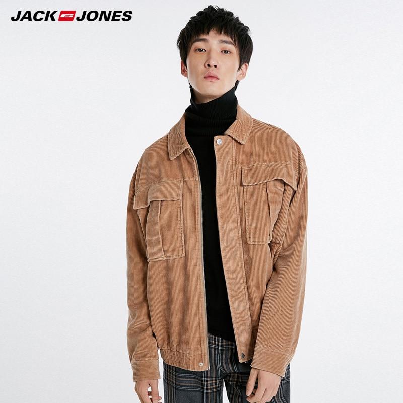 Jack Jones Autumn Winter Mens  Motorcycle Corduroy Jacket Coat |218321563
