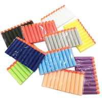 100PCS Refill Darts Bullets For Nerf N-strike Elite Series Blasters Children Toy Gun Blue Soft Bullet Foam Guns Accessories