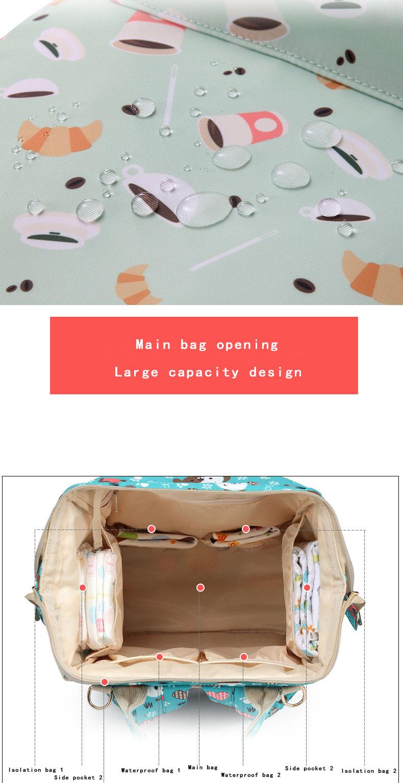 Hf0dbf6f300ae40f194edbb5010baef822 Fashion Mummy Maternity Nappy Bag Waterproof Diaper Bag With USB Stroller Travel Backpack Multi-pocket Nursing Bag for Baby Care
