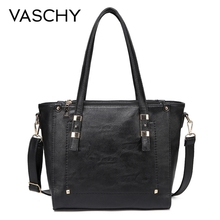VASCHY Fashion Women Handbags Tote Bags for Women Faux Leather Top Handle Satchel Purse for Ladies with Little Pouch Designer