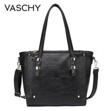 VASCHY แฟชั่นผู้หญิงกระเป๋าถือกระเป๋าถือผู้หญิงผู้หญิงหนัง Faux กระเป๋าถือกระเป๋าสำหรับสุภาพสตรีเล็กๆน้อยๆกระเป๋า Designer