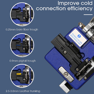 Image 4 - FC 6S fiber cleaver Cold Contact With 12 BladeS FC 6S Metal Material FTTH fiber cable cutter knife cleaver tool