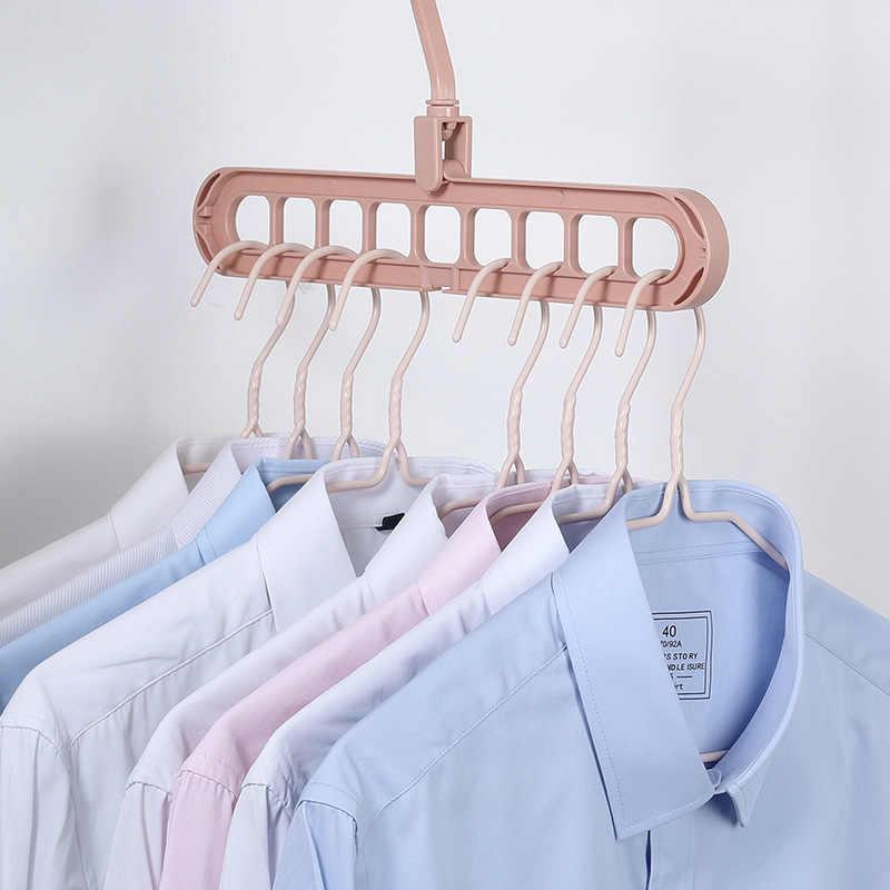 -Dukungan Port Lingkaran Gantungan Pakaian Pakaian Pengering Rak Plastik Multifungsi Syal Gantungan Pakaian Gantungan Penyimpanan Rak