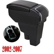 Braço resto rotativo para honda fit jazz 2002-2007 centro hatchback centro console caixa de armazenamento braço 2003 2004 2005 2006 2007