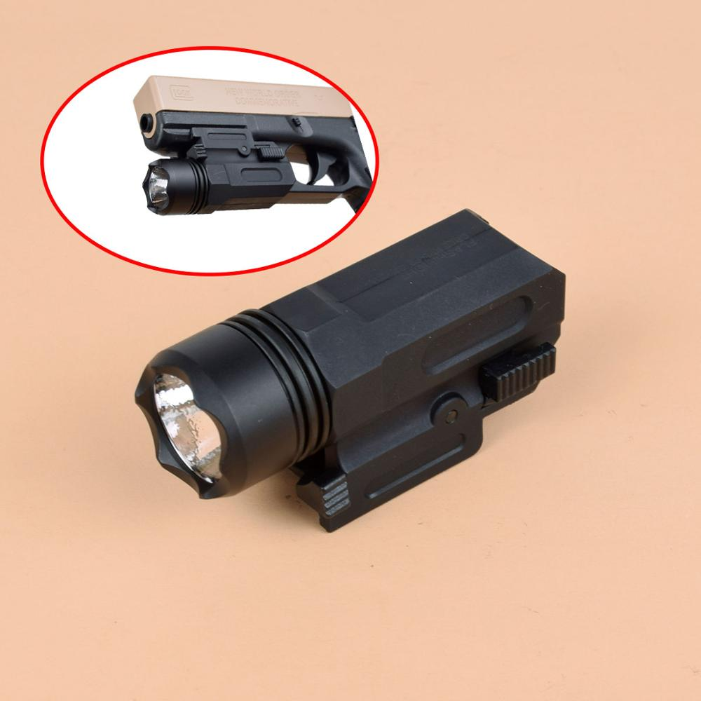 Airsoft Mini Pistol Light QD Quick Detach Handgun Flashlight LED Gun Tactical Torch For 20mm Rail Taurus G2C Glock 17 19 18C