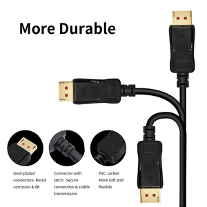 Image 5 - Displayport 1.4 cable 144HZ DP 1.4 cable 8K DisplayPort to DisplayPort 1.2 Cable 8K/60HZ 4KX2K/144HZ HDR DP 1.2 g sync&freesync