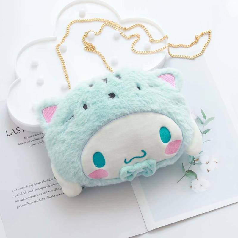 1pc lovely Cute cinnamoroll stuffed animals ,pudding plush bag,my melody backpack for girls cool outdoor gifts image