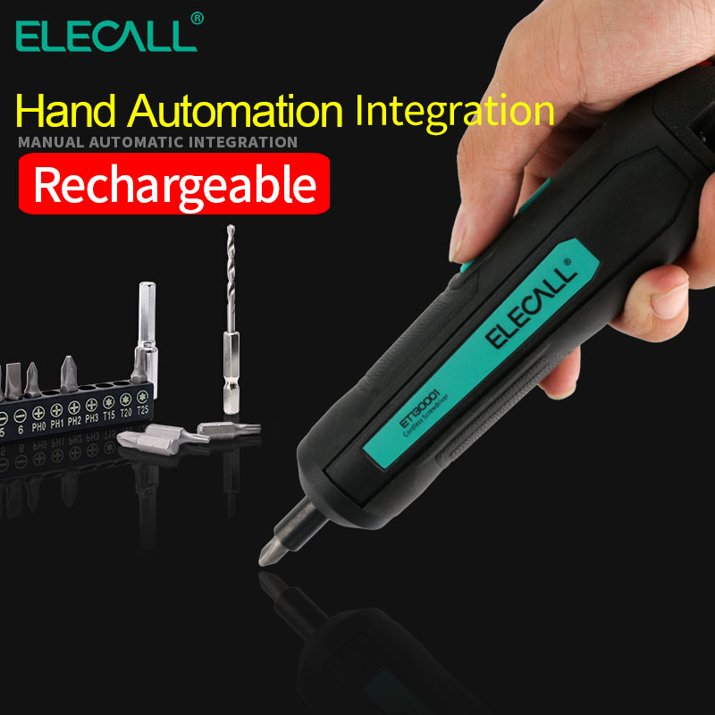 ELECALL ET130001 mini electric screwdriver electrical rechargeable USB lithium battery 3.6V cordless drill power electric tool