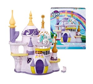 Meu pequeno pônei anime canterlot castelo conjunto universo princesa pônei ação castelo modelo fantasiar-se brinquedo menina aniversário presente de natal 2