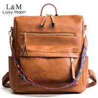 Rétro grand sac à dos femmes sac à dos en simili cuir polyuréthane femmes sac à dos voyage sacs à dos épaule sacs d'école Mochila sac à dos XA96H