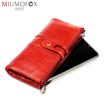 Women Purses Genuine Leather Wallet Female Cellphone Clutch Bag with Coin Pocket Long Zip Ladies Wallets and Purse Rfid Blocking