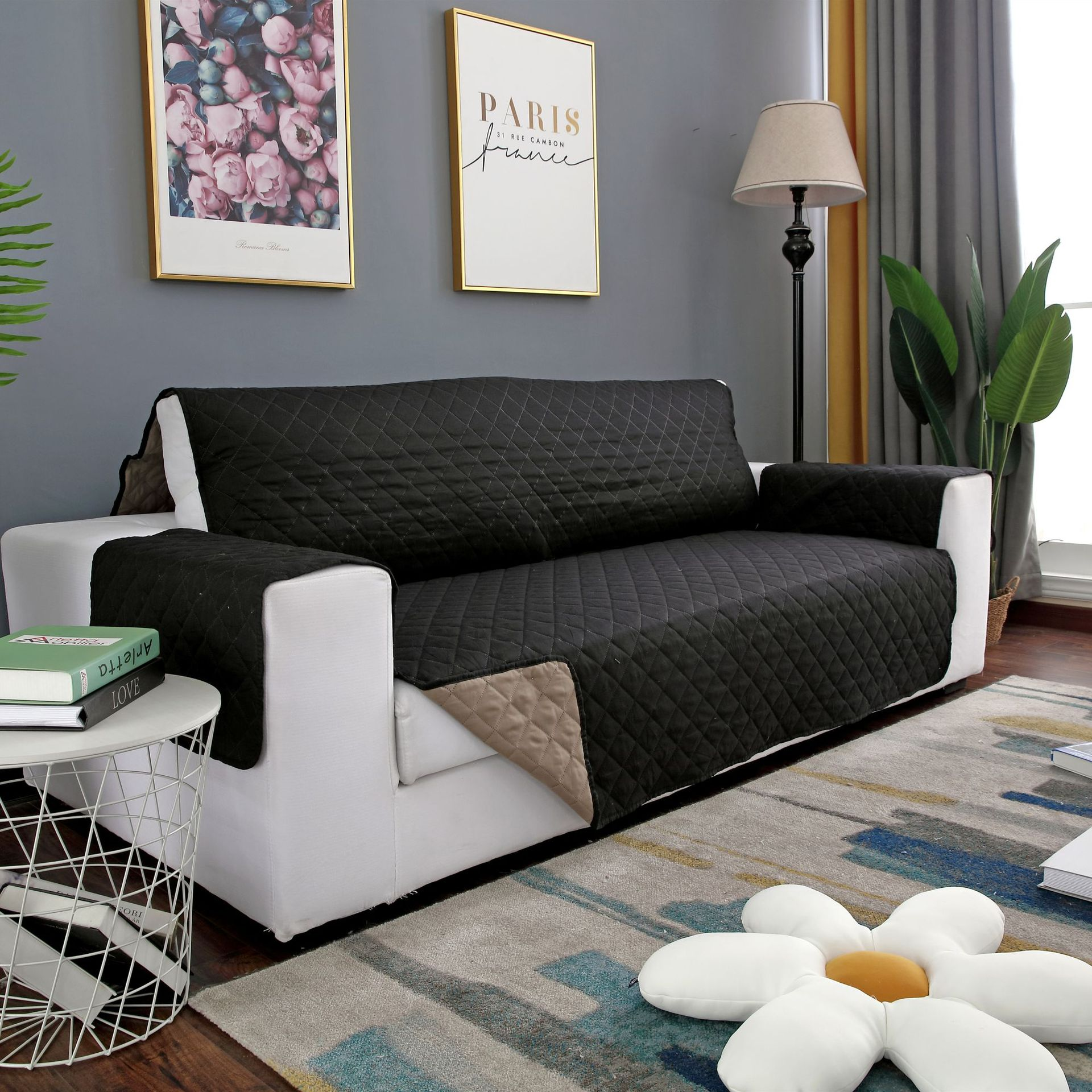 Foreign Trade Double-Sided One-piece Pet Sofa to Fill up Versatile Sofa Slipcover Case Sofa Seat Quilted Sofa Pad Amazon