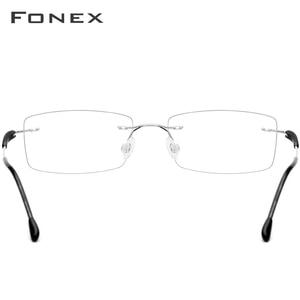 Image 5 - FONEX TR90 Titanium Alloy Rimless Glasses Men Women Frameless Prescription Optical Screwless Eyewear Eyeglasses Frame 7020