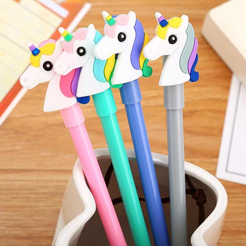 Милый патч Единорог гелевая ручка милый 0,5 мм ручка для подписи для детей подарок Креативный Канцтовары офисный школьный принадлежности для письма