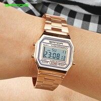 2019 SANDA Rose Gold Sport Watches Women Luxury Golden LED Electronic Digital Watch Waterproof Ladies Clock Female Reloj Mujer