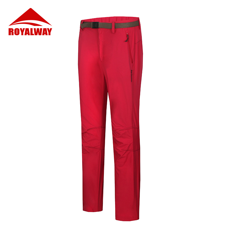 ROYALWAY Outdoor Camping Hiking Pants Women Slim Waterproof Pure Color Long Pants Sport Thin Trousers RFQL2105E