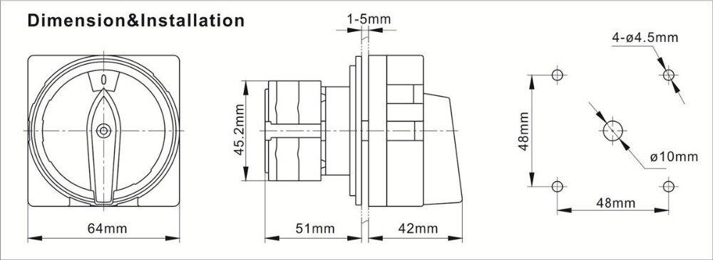 Le circuit utilisation j-2r//2 Interrupteur Tournant-Grille recto verso dispositif de verrouillage 600.1402.00