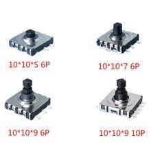 10*10*5/7/9 smd 5 interruptor de cinco vias 10x10x5 7 9 mm multi-função multi interruptor de direção botão de reset de toque 6p 10p