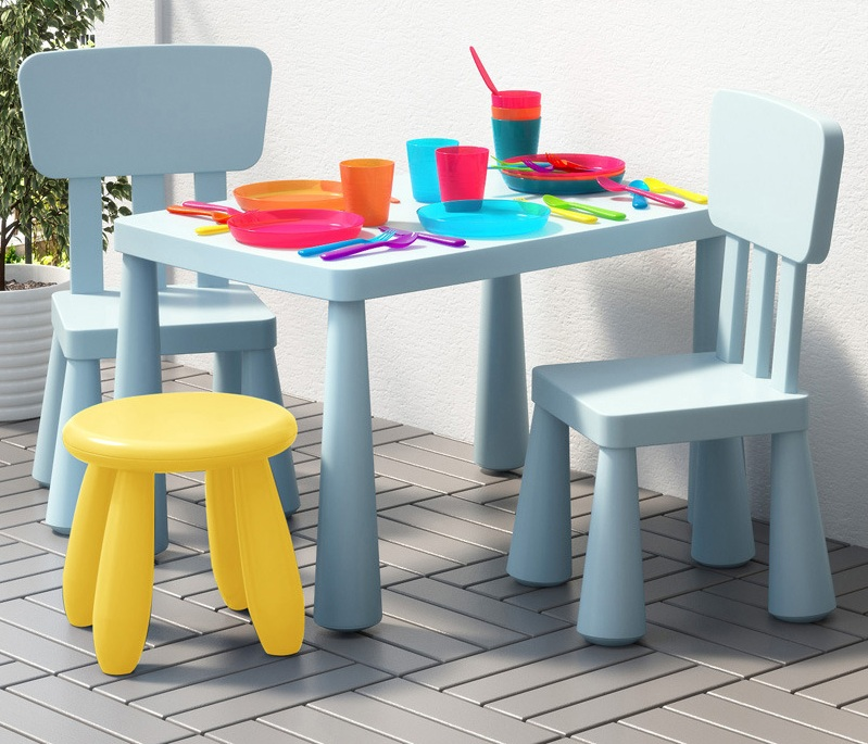New Thickening Children's Desk And Chair Suit Combination Kindergarten Dining Table Set Kids Table And Chair Furniture