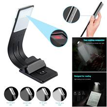 Flexible Book Light Brightness Adjustable Bendable with Clip Design Lamp LED Book Light Night Reading Lamp USB Rechargeable