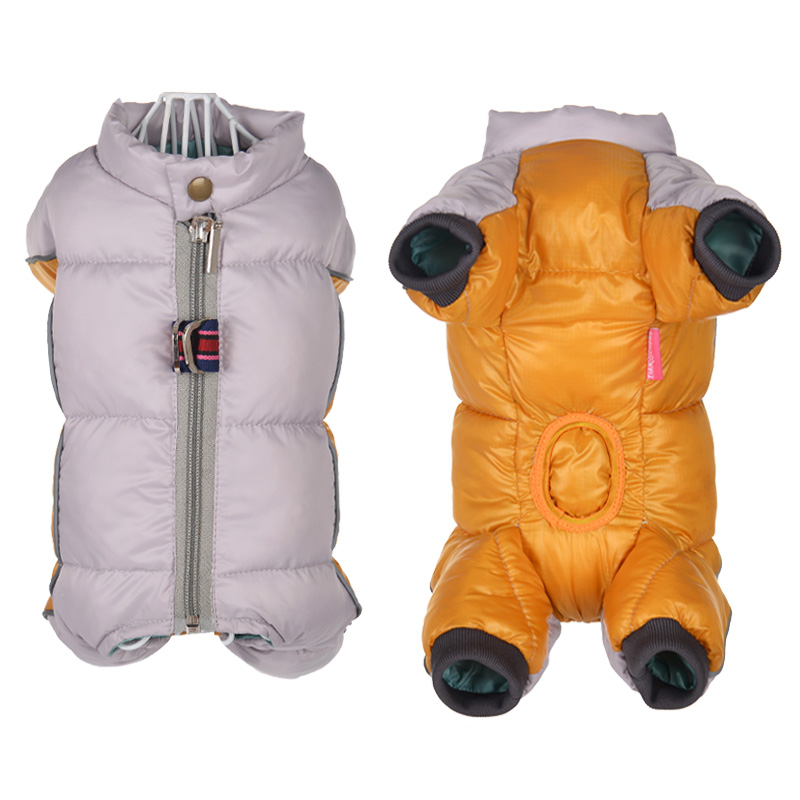 Reflective and Waterproof Dog Jacket with Four Full-Legged Overall Design for Winter 1