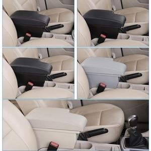 Image 5 - For Toyota Hilux Armrest box Retrofit parts Interior Car Armrest Storage box Holder Ashtray accessories USB LED