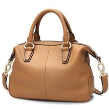 цена на Genuine Leather Woman Package Soft Single Shoulder Portable Satchel crossbody bags Fashion luxury women bag Bolsas Feminina Saco