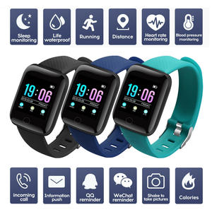 ID116 Plus Smart Watch Heart Rate Blood Pressure Health Waterproof Smart Watches Bluetooth Watch Wristband Fitness Tracker Clock