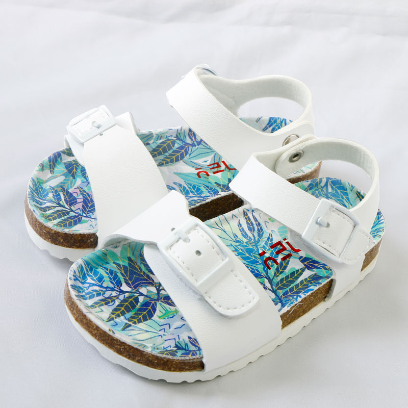Summer Kids Shoes Corks 2020 Fashion PU Leathers Children Sandals For Girls Toddler Breathable Jungle Design Girl School Shoes