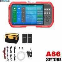 """A86 A82 5 en 1 H.265 4K HD 7 """"IP CCTV Tester Monitor AHD CVI TVI CVBS prueba de cámara 8MP ONVIF HDMI entrada multímetro de fibra óptica"""