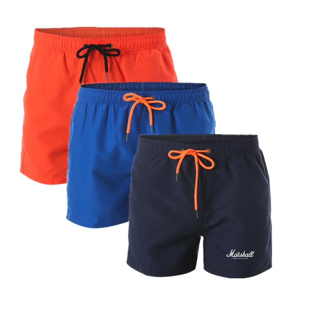 Mens Black Clover Swim Trunks 3D Drawstring Beach Board Shorts Quick Dry Bathing Suitsr Running Board Shorts