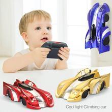 Новый Радиоуправляемый автомобиль настенный альпинистский автомобиль игрушки Дистанционное управление автомобиль дрейф мигающие Гоночные Игрушки антигравитационный автомобиль мини-трюк радиоуправляемая игрушка Подарки для детей