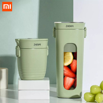 Xiaomi ZHENMI Mini Wireless Vacuum Portable Juicer Cup 28s Blender USB Charging Vacuum Preservation 4 Leaf Steel Knife