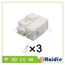 O envio gratuito de 5 conjuntos sumitomo 3pin 4.8mm plugues fêmea automóvel conector de habitação elétrica 6098-0151