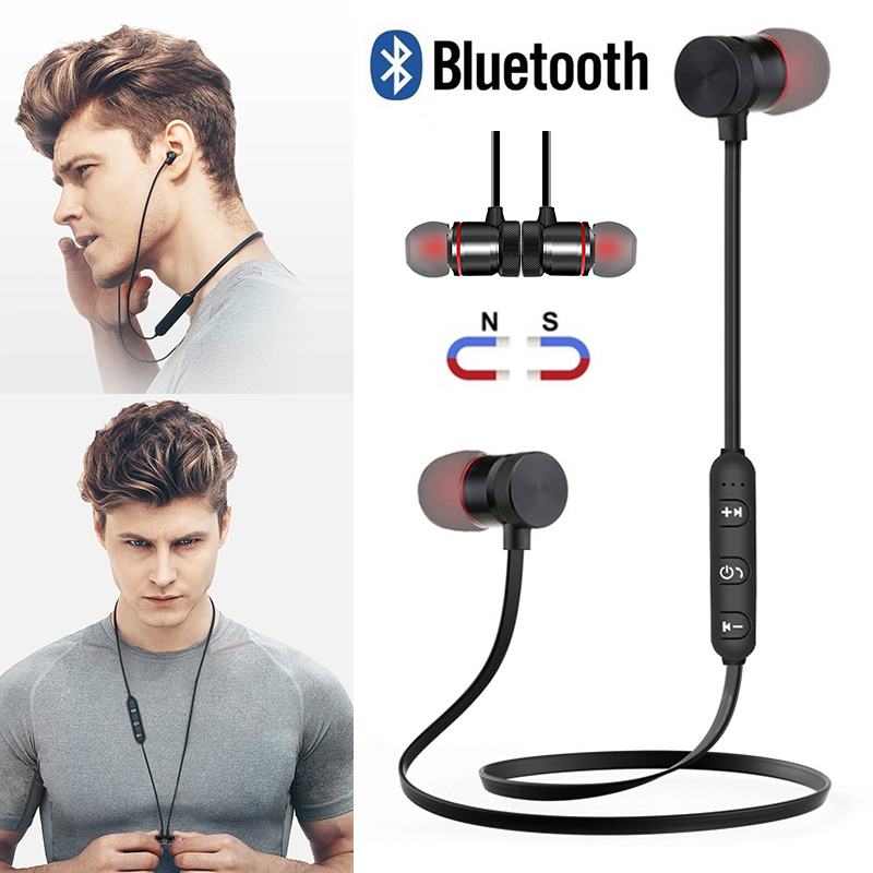 M9 Bluetooth Wireless Headphone Sport Stereo Magnet Earbuds With MIC Earphone Headset For Iphone Huawei Xiaomi Redmi note 8 pro 1