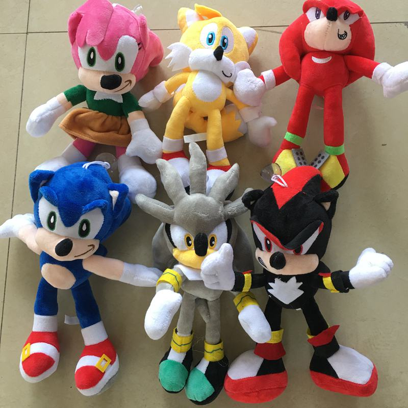 28cm 30cm The Sonic Hedgehog Stuffed Animals Plush Toy Movies Tv Aliexpress