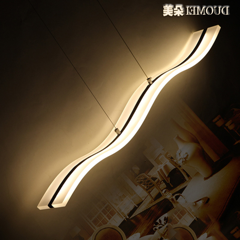 Modern  Chrome Feature for LED Acrylic pendant light Living Room / Bedroom / Dining Room