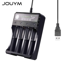 JOUYM 4 Slot Smart 18650 ładowarka do 18650 21700 26650 li-ion AA akumulator AAA tanie tanio CN (pochodzenie) Wyjście USB Standardowa bateria