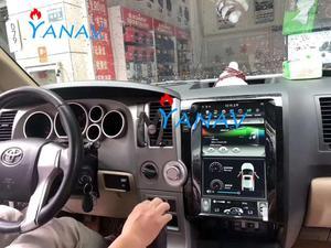 Автомобильный мультимедийный плеер 13,6 дюйма, Android, GPS-навигация для TOYOTA Tundra 2007-2011/Sequoia 2007-2018, вертикальный радиоприемник